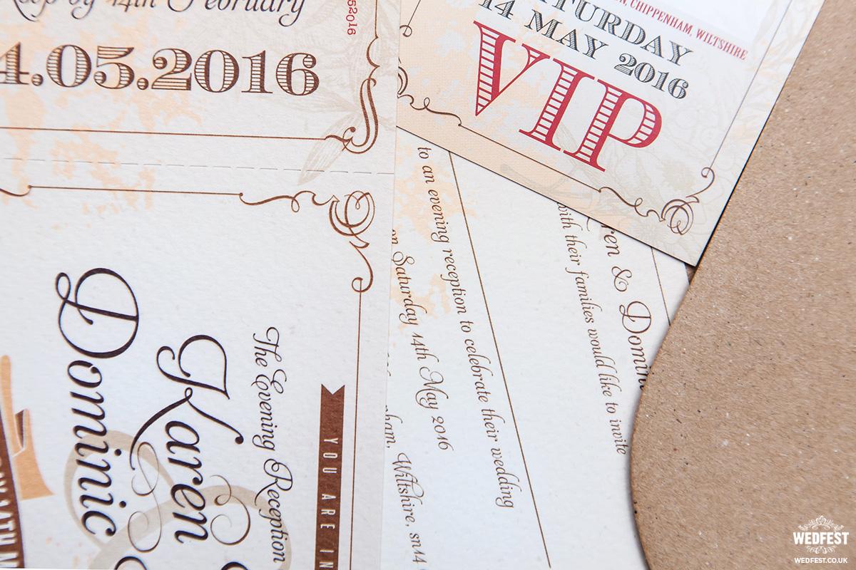 rustic festival wedding invitations