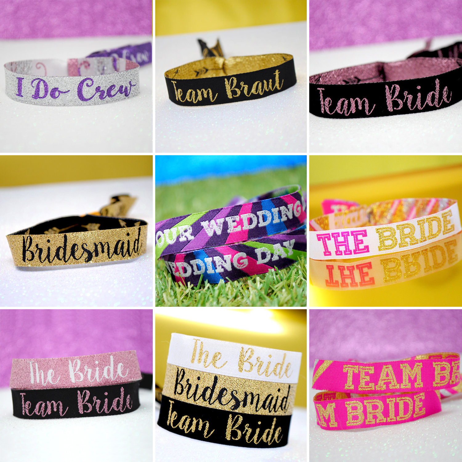 hen party wristbands favours alternative accessories