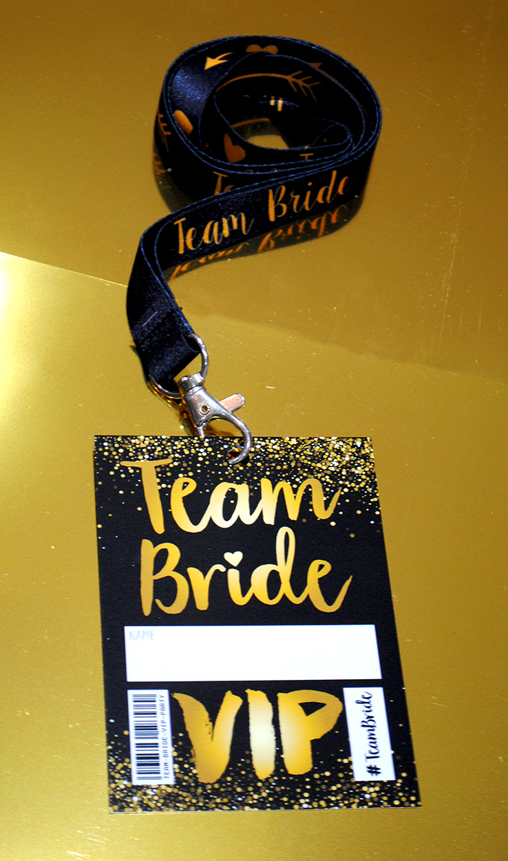 team bride hen party vip pass lanyard