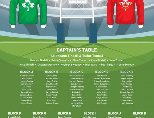 Rugby Themed Wedding Table & Seating Plan