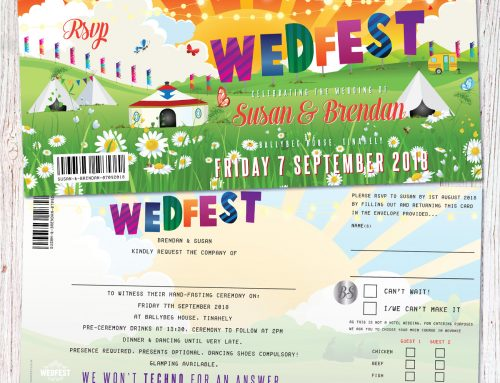 Wedfest Festival Wedding Invitations Ireland