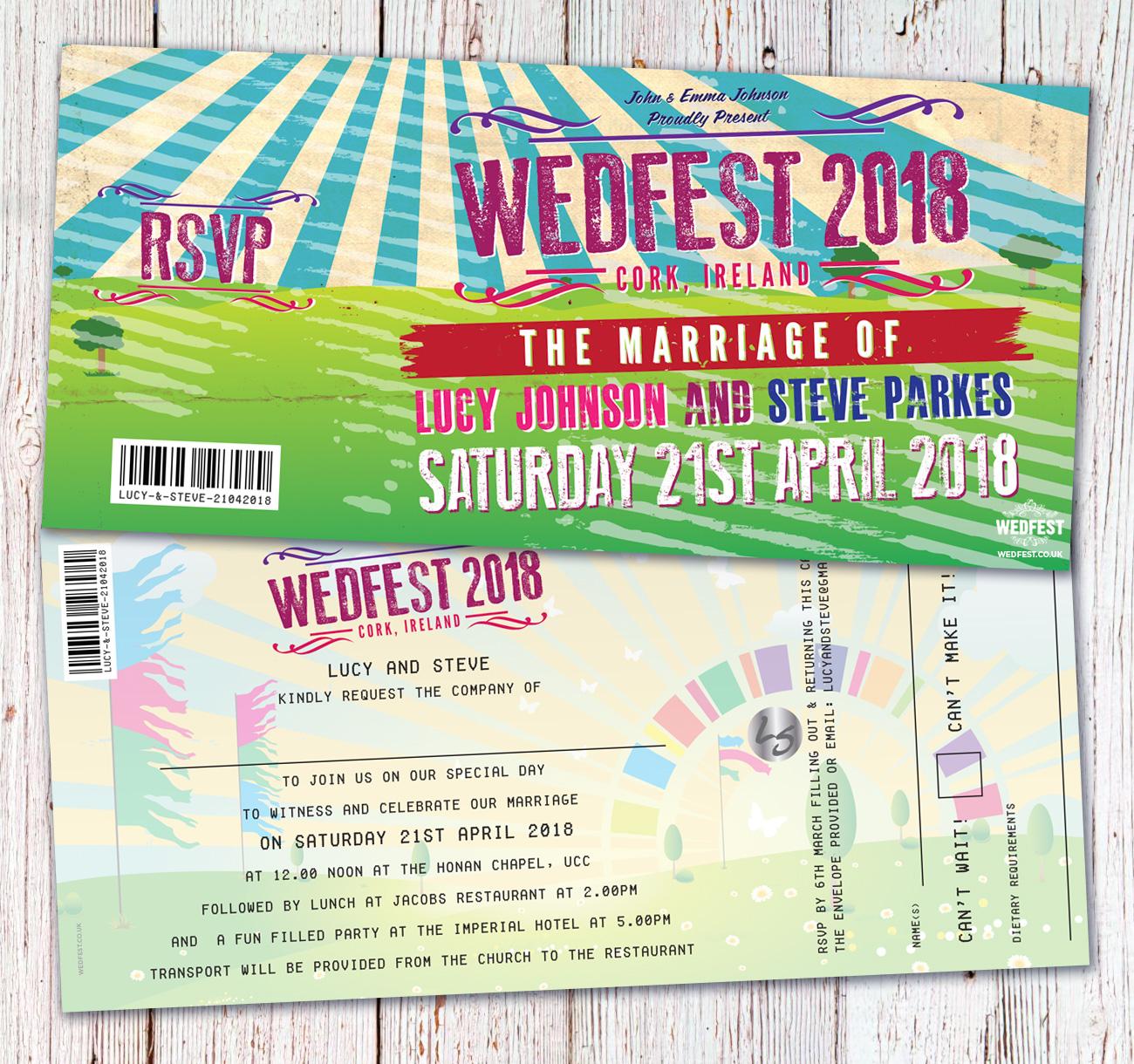wedfest cork ireland festival wedding invitations