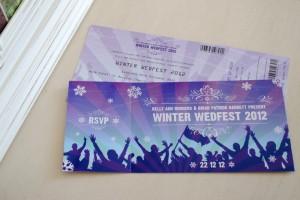 concert tickets wedding invitations | wedfest