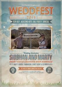 festival poster style wedding invitations uk | wedfest