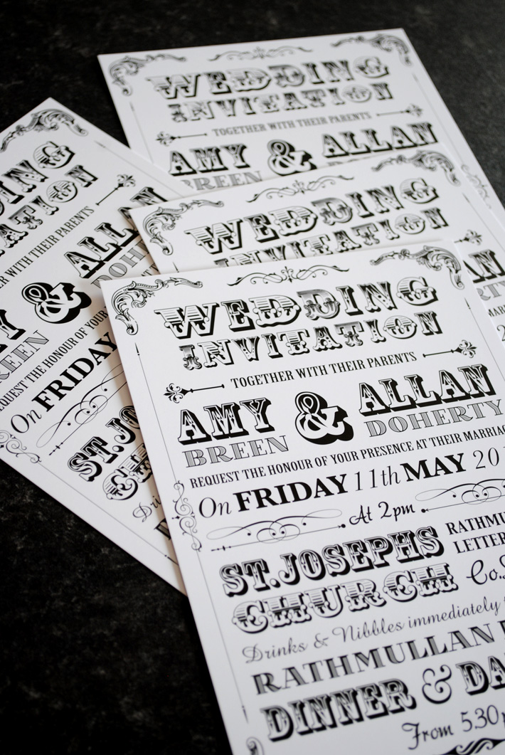 festival poster style wedding invitations | wedfest