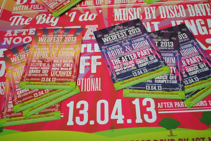 festival poster wedding invitations | wedfest