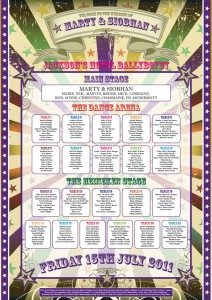festival poster wedding seating table plan | wedfest