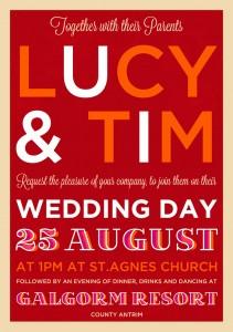 festival style poster wedding invitation