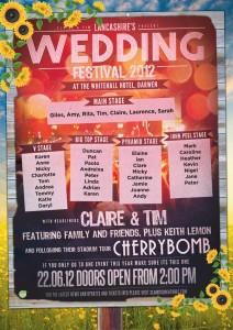 festival style wedding table plan poster | wedfest