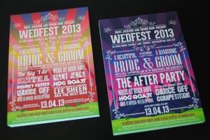 wedfest 2012 festival themed wedding invites