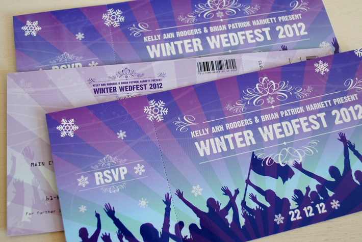 festival tickets wedding invites | wedfest