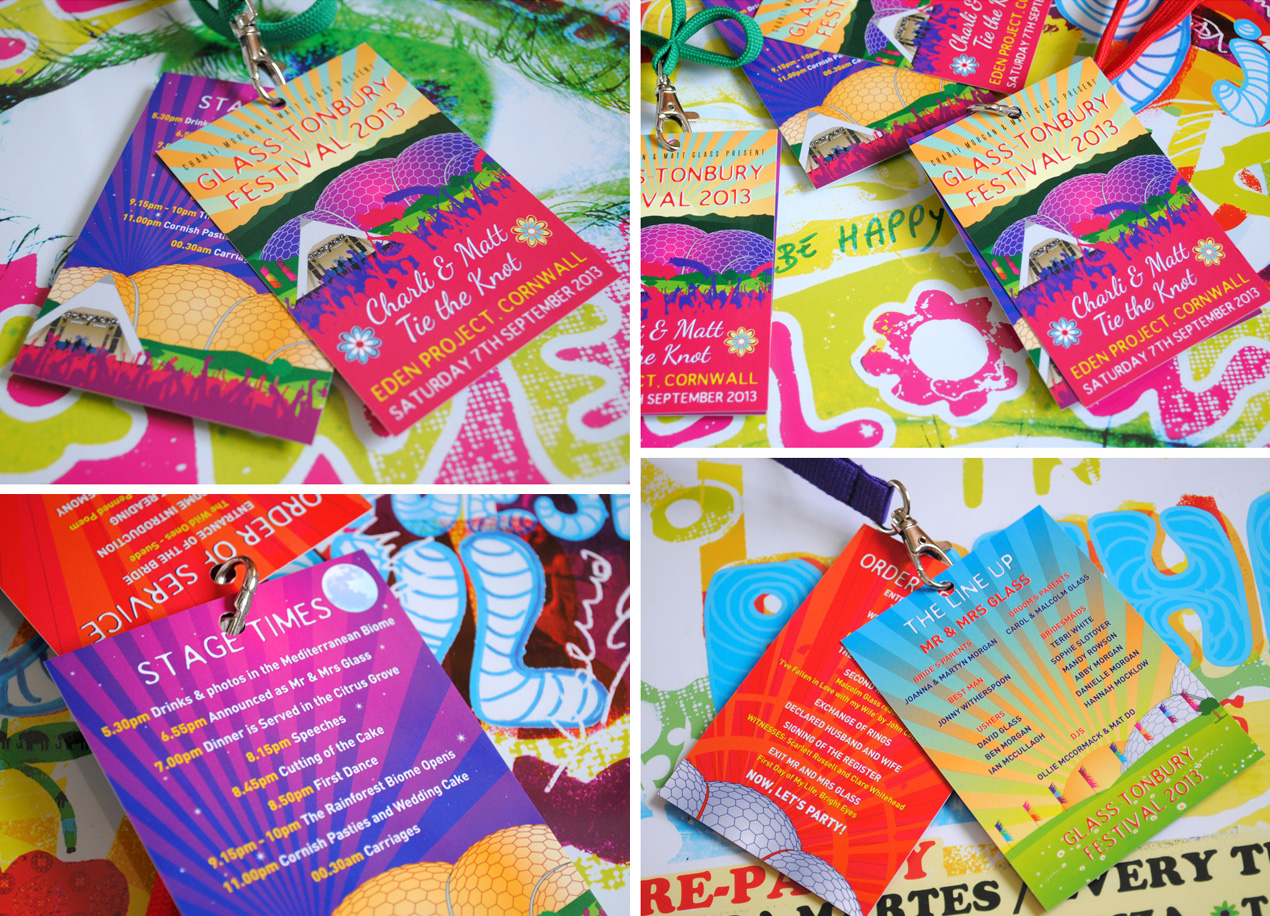 festival wedding 2014 lanyards