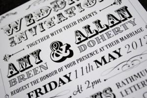 poster style festival wedding invitation | wedfest
