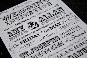 vintage festival poster style wedding invitations | wedfest