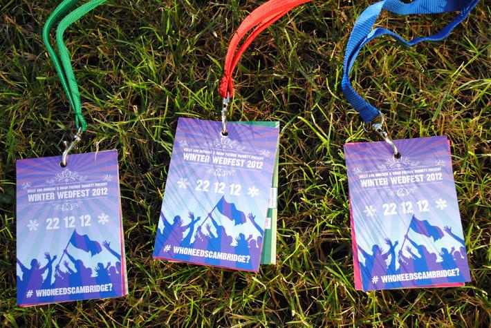 festival themed wedding neck lanyards | marty mccolgan