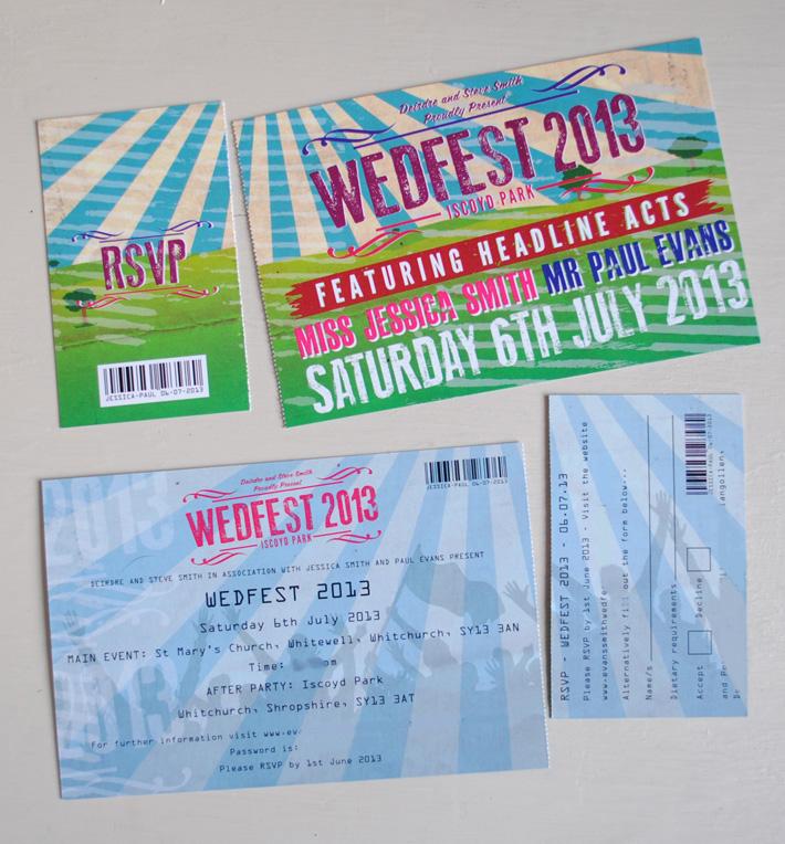 concert wedding invitations