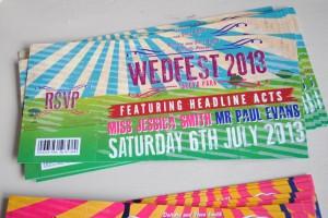 music festival wedding stationery