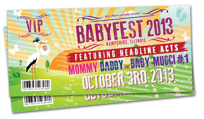 babyfest | baby shower ticket invitations