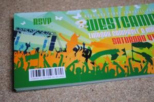 festival ticket wedding stationery