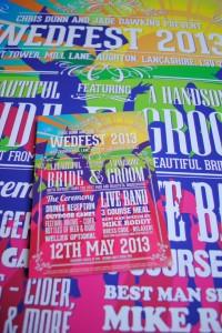 wedding festival poster stationery