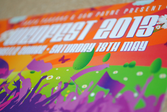 wedfest festival ticket wedding invitation
