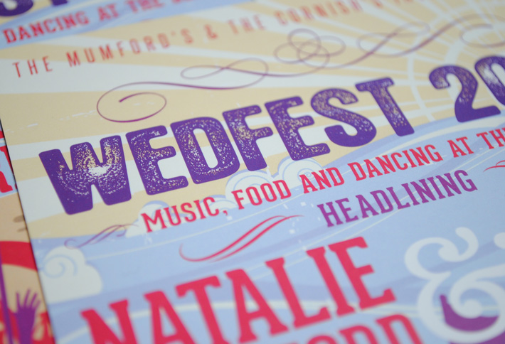 wedfest seaside wedding invites