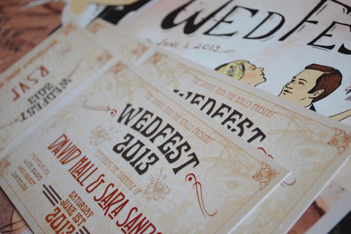 art nouveau wedfest wedding invitations