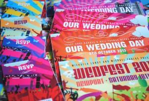 concert ticket stub wedding invites