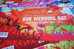 concert tickets wedding invitations