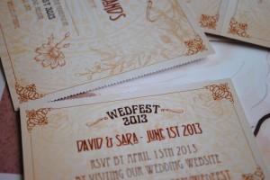 wedfest ticket wedding invite