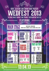 festival poster wedding table seating plan