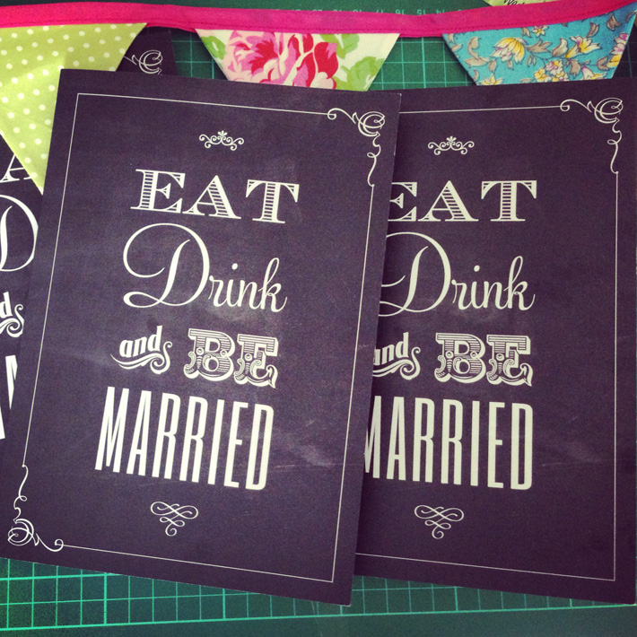 Eat Drink And Be Married Wedding Menus