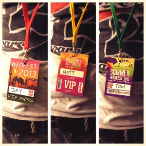 festival wedding vip pass lanyards