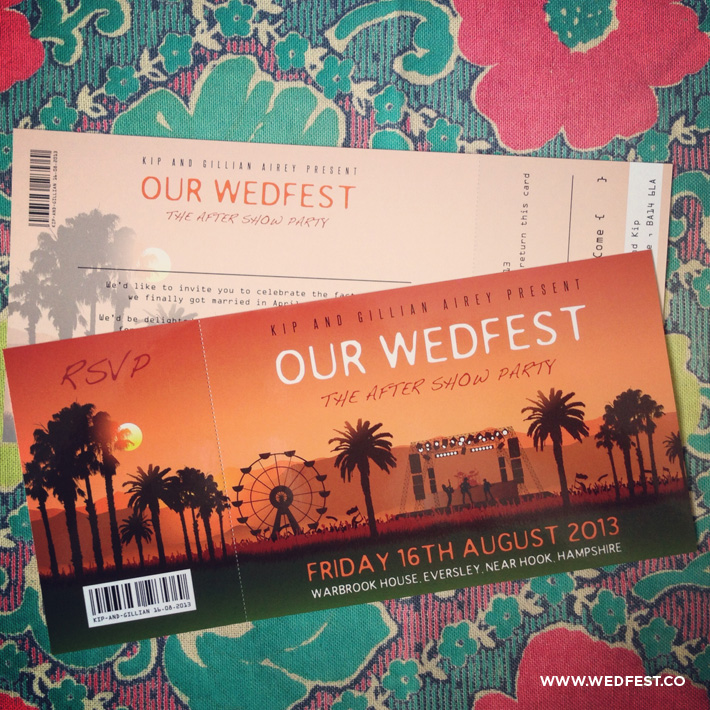 summer festival wedding invites