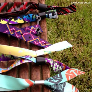 Fabric wristbands festival weddings