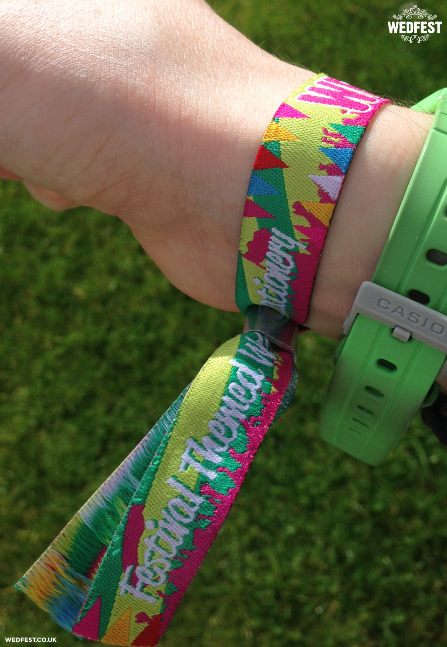 Fabric wristbands festival weddings