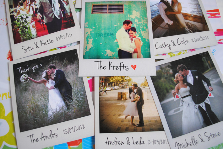 Personalised Polaroid Cards