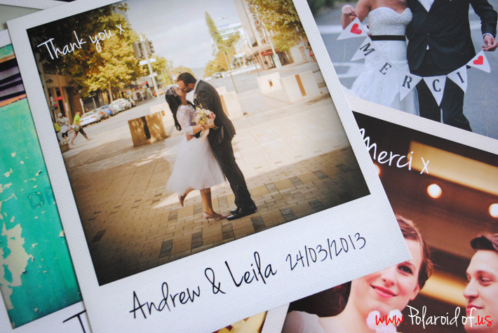 personalised polaroid cards wedfest