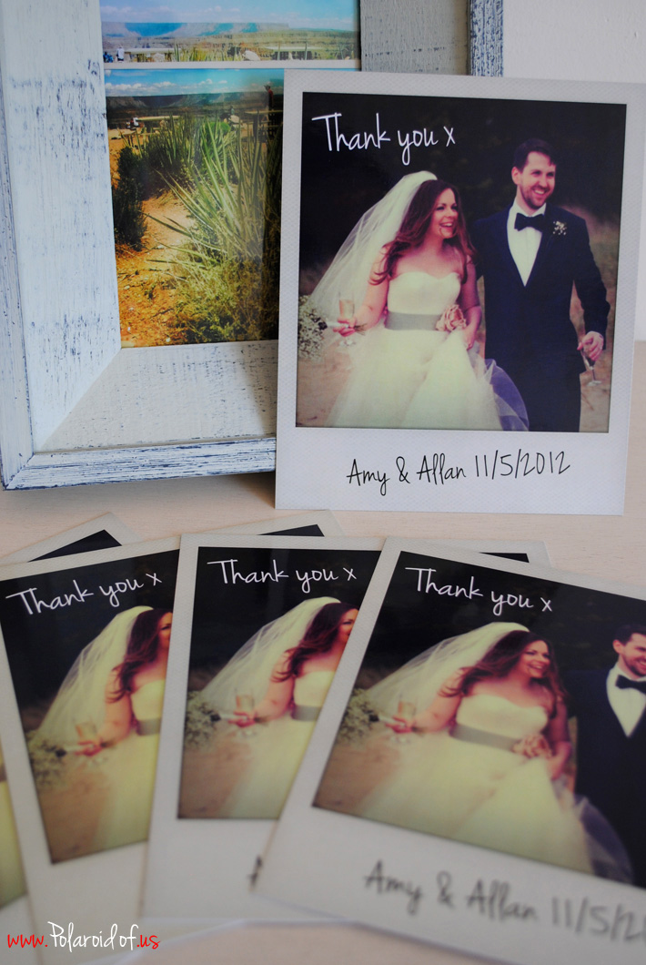 Personalised Polaroid wedding prints