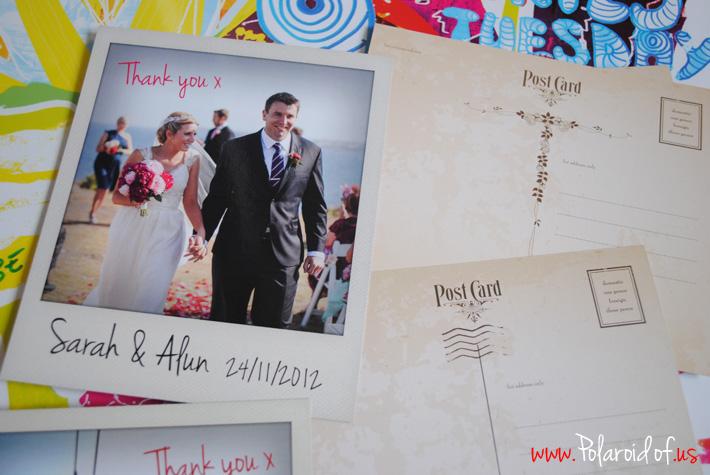 wedding thank you Polaroid prints