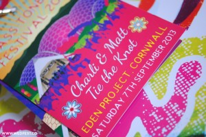 eden project wedding stationery