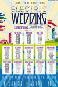electric picnic wedding table seating plan