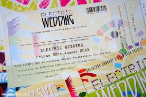 electric wedding invitation