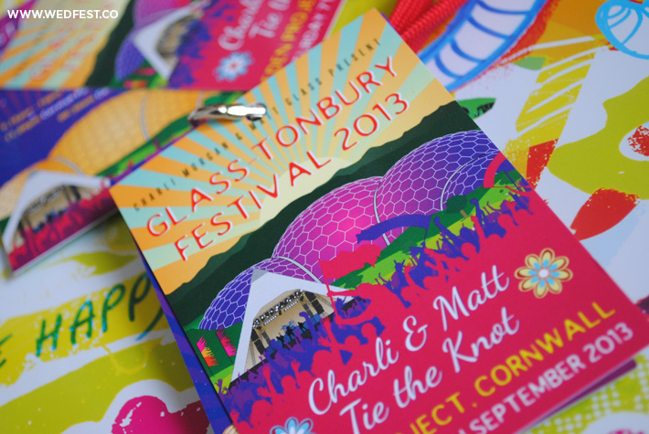 glastonbury festival wedding stationery