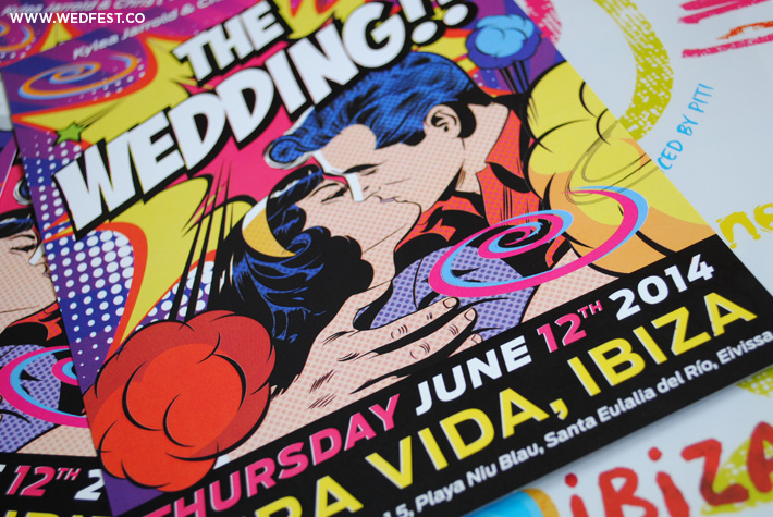 ibiza flyer wedding invites