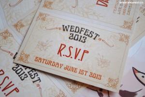 wedfest vintage chic wedding invites