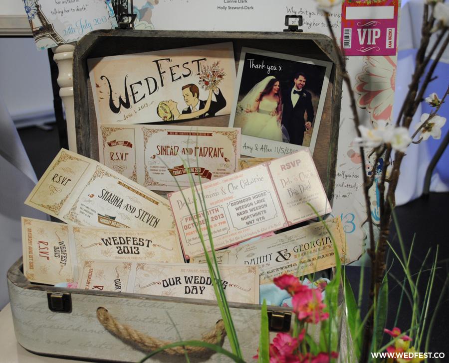 wedfest vintage chic wedding stationery