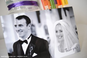 black and white wedding thank you cards