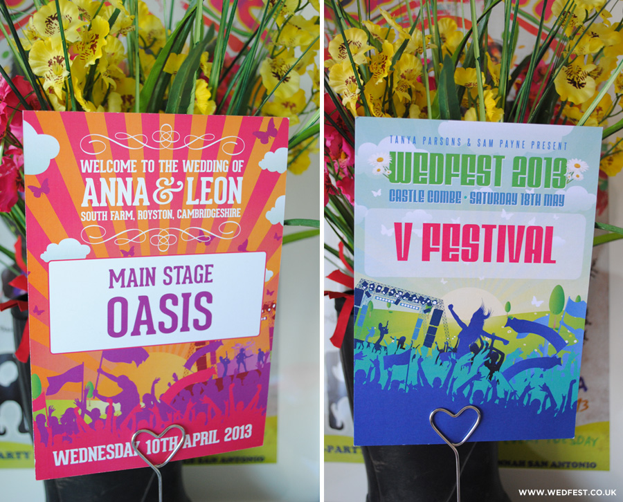 concert poster themed wedding stationery