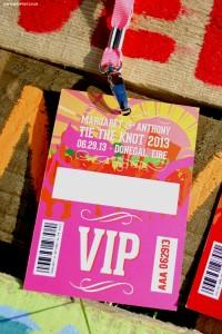 festival wedding vip lanyard programme